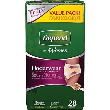 Depend Women Underwear, Large, 28/Pack