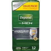 Depend Men Underwear, Small/Medium, 32/Pack