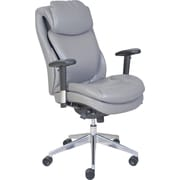 Serta® Wellness by Design Air™ Commercial Series -200 Task Chair, Puresoft® Faux Leather, Grey