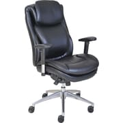 Serta® Wellness by Design Air™ Commercial Series -200 Task Chair, Puresoft® Faux Leather, Black