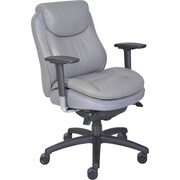 Serta® Smart Layers™ Commercial Series - 400 Task Chair, Puresoft® Faux Leather, Grey