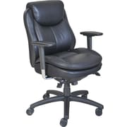Serta® Smart Layers™ Commercial Series - 400 Task Chair, Puresoft® Faux Leather, Black