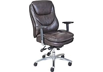 Serta® Smart Layers™ Commercial Series - 600 Task Chair, Puresoft® Faux Leather, Brown