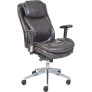 Serta® Wellness by Design Air™ Commercial Series -200 Task Chair, Puresoft® Faux Leather, Brown