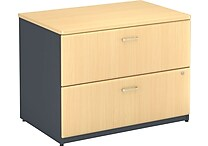 Bush Business Cubix 36W 2Dwr Lateral File, Euro Beech/Slate