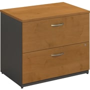 Bush Business Westfield 36W 2Dwr Lateral File, Natural Cherry/Graphite Gray