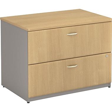 Bush Cubix 36in.W 2Dwr Lateral File, Danish Oak