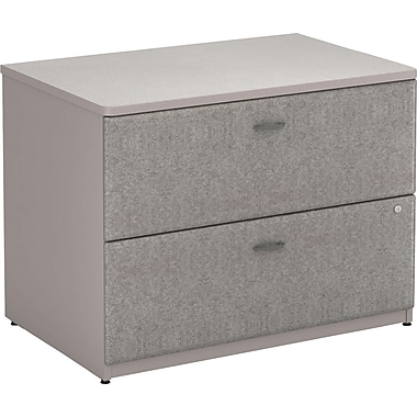 Bush Cubix 36in.W 2Dwr Lateral File, Pewter