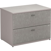 Bush Business Cubix 36W 2Dwr Lateral File, Pewter/White Spectrum