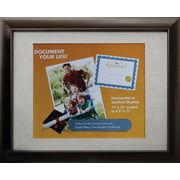 "Victory Light 11"" x 14"" Bronze Document Frame with Linen Mat VS2982I.114"