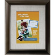 "Victory Light 8"" x 10"" Linen Mat Bronze Document Frame VS2982I.810"