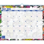 2015-2016 Academic Year Staples Medium Monthly Wall Calendar, July-June, 14 7/8 x 11 7/8