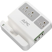 APC Surge 3 Outlet 3 USB Charging Ports, White