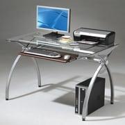 Techni Mobili Glass Top Computer Desk