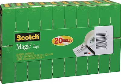 "Scotch® Magic™ Tape, 3/4"" x 900"", 1"" Core, 20/Pack (810SX20)"