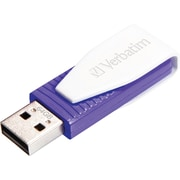 Verbatim 49816 64GB Swivel USB 2.0 Flash Drive, Violet