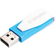Verbatim 49812 8GB Swivel USB 2.0 Flash Drive, Caribbean Blue