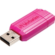 Verbatim PinStripe 49067 16GB USB Flash Drive, Hot Pink