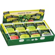 Bigelow® Green Tea Assortment Box, Regular & Decaffeinated, 64 Tea Bags/Box