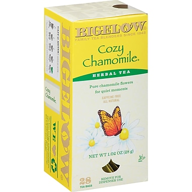 Bigelow® Cozy Chamomile Herb Tea Bags, Decaffeinated, 28 Tea Bags/Box