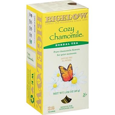 Bigelow® Cozy Chamomile® Herb Tea Bags, Decaffeinated, 28 Tea Bags/Box