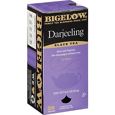 Bigelow® Darjeeling Tea, Regular, 28 Tea Bags/Box