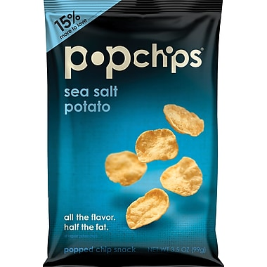 Popchips™, Sea Salt, 3.5 oz., 12 Bags/Box