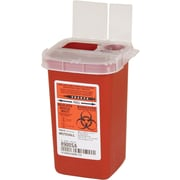 Kendall/Covidien Sharps Containers; 1 Quart with Clear Lid