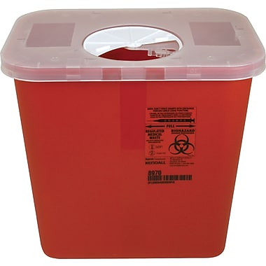 Kendall/Covidien Sharps Containers; 2-Gallon Container with Roto Lid