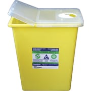 Chemotherapy Sharps Containers; 8 Gallon, Hinged Lid