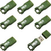 EP Memory Green Mini GorillaDrive Rugged USB Flash Drive, 8GB, 8-Pack