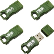 EP Memory Green Mini GorillaDrive 16GB Rugged USB Flash Drive, 4-Pack