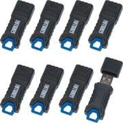EP Memory GorillaDrive Rugged USB 2.0 Flash Drive, 8GB, 8-Pack