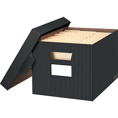 Bankers Box® Decorative Storage Box, Pinstripe, 2/Pack (6170701)