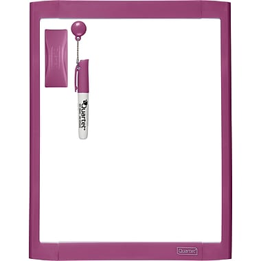 Quartet® Dry-Erase Board, Pink, 8.5in. x 11in.