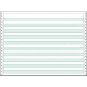 "Printworks® Professional Computer Paper W/1/2"" Green Bar, 14 7/8"" x 11"", White, 2600 Sheets"
