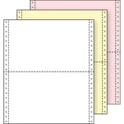 "Printworks® Professional 3 Part Computer Paper, 9 1/2"" x 5 1/2"", White/Canary/Pink, 2000 Sheets"