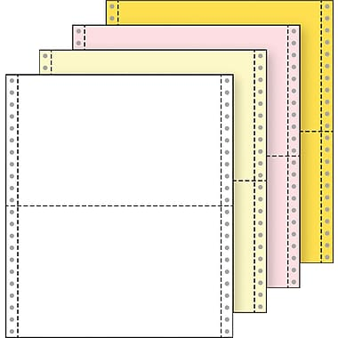 Printworks® Professional 4 Part Computer Paper, 9 1/2in. x 5 1/2in., White/Canary/Pink/Gold, 1600 Sheets