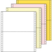 "Printworks® Professional 4 Part Computer Paper, 9 1/2"" x 5 1/2"", White/Canary/Pink/Gold, 1600 Sheets"