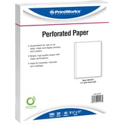 "Printworks® Professional 8 1/2"" x 11"" 20 lbs. Vertical Perforated at 5/8"" Paper, White, 2500/Case"