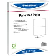 "Printworks® Professional 8 1/2"" x 11"" 20 lbs. Perforated 5 1/2"" Paper, 2500/Case"