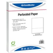 "Printworks® Professional 8 1/2"" x 11"" 20 lbs. Perforated 3 1/2"" Paper, 2500/Case"