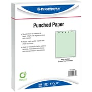 "Printworks® Professional 8 1/2"" x 11"" 20 lbs. Punched Paper, Green, 2500/Case"