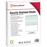 "Paris DocuGard® 8 1/2"" x 11"" 24 lbs. Standard Security Business Top Check Paper, Green, 2500/Case"