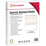 "Paris DocuGard® 8 1/2"" x 11"" 24 lbs. Standard Security Business Top Check Paper, Gold, 2500/Case"