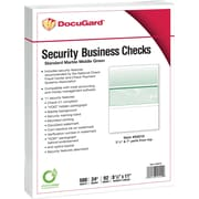 "Paris DocuGard® 8 1/2"" x 11"" 24 lbs. Standard Security Business Middle Check Paper, Green, 2500/Case"