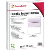 "Paris DocuGard® 8 1/2"" x 11"" 24 lbs. Standard Security Business Middle Check Paper,Purple,2500/Case"