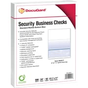 "Paris DocuGard® 8 1/2"" x 11"" 24 lbs. Standard Security Business Bottom Check Paper, Blue, 2500/Case"
