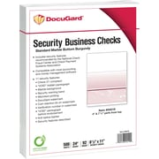 "Paris DocuGard® 8 1/2""x11"" 24 lbs. Standard Security Business Bottom Check Paper,Burgundy,2500/Case"