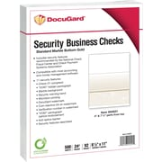 "Paris DocuGard® 8 1/2"" x 11"" 24 lbs. Standard Security Business Bottom Check Paper, Gold, 2500/Case"